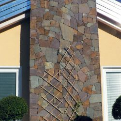 Porphyry covering with irregular thin type slabs